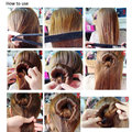 Hot Selling Wholesale 1pc Useful Hair Updo Wrap Fold Snap Bun Maker Hair Magic Styling Tool Beauty