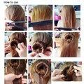 Venta Al Por Mayor caliente 1 unid Útil Updo Pelo Wrap Complemento Tapa Magic Hair Styling Fabricante Del Bollo Herramienta de La Belleza