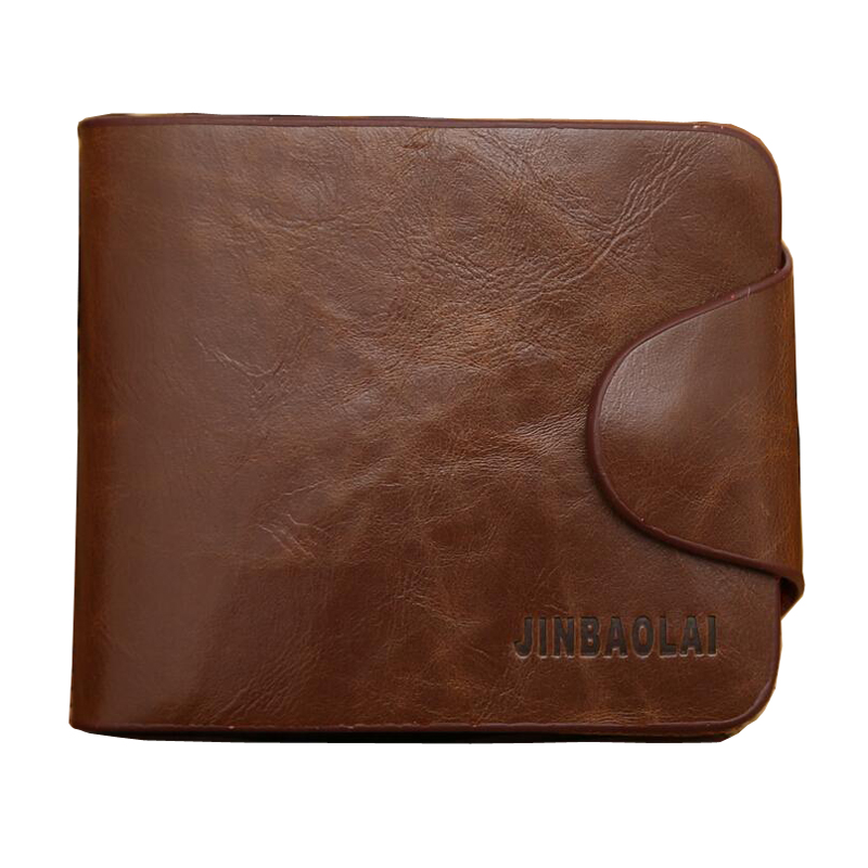 2016 Fashion Cross Square Pu Leather Mens Wallets Brown Color 2 Fold Credit Card Holders Wallet For Men #04