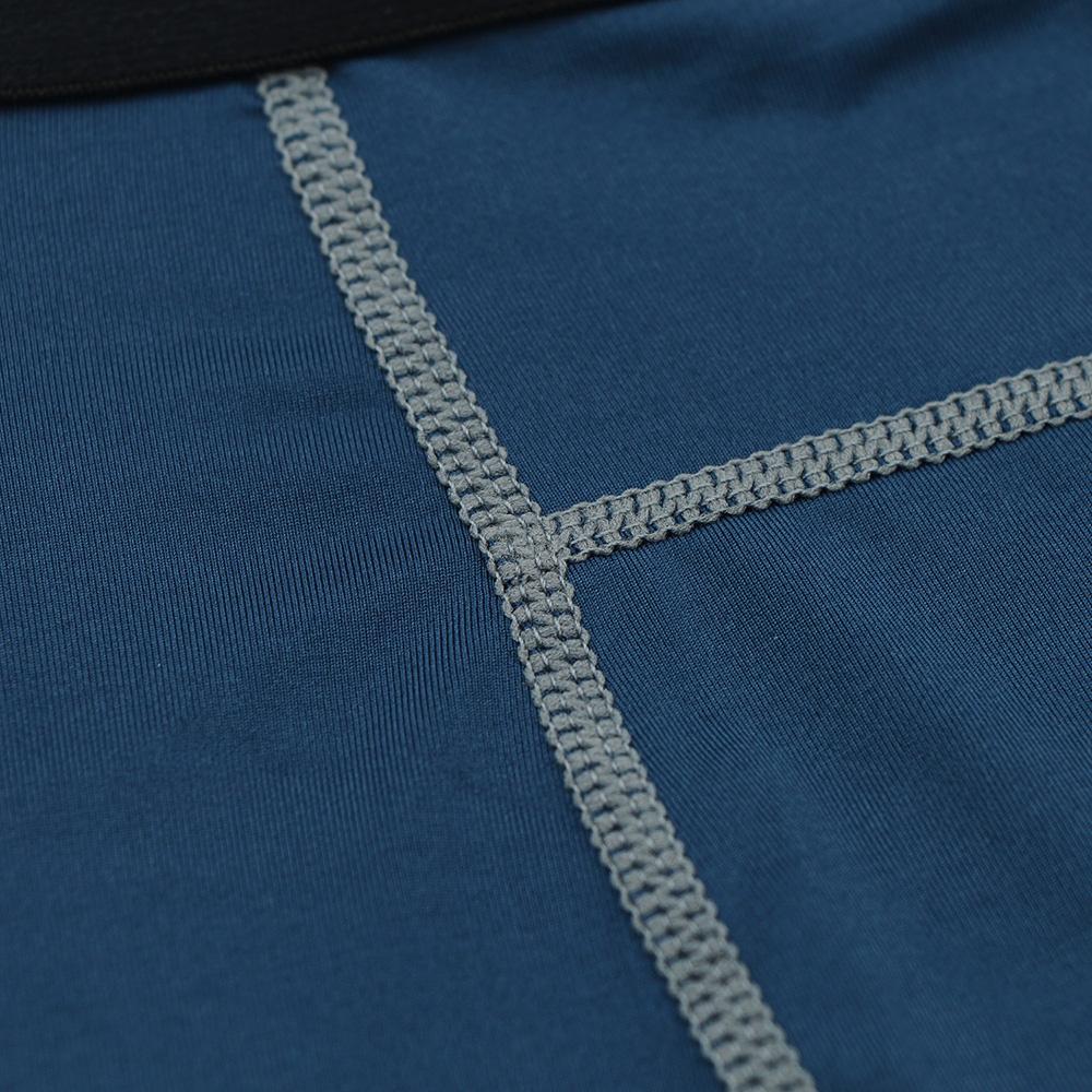 Meggings - leggings pour homme coupe 3/4 pantacourt de sport gym yoga bleu marine, gros plan