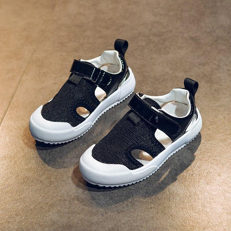 2018 Children Sandals Boy Sandals New Summer Hollow Mesh Shoes Boys Beach Shoes Sports Baotou Shoes
