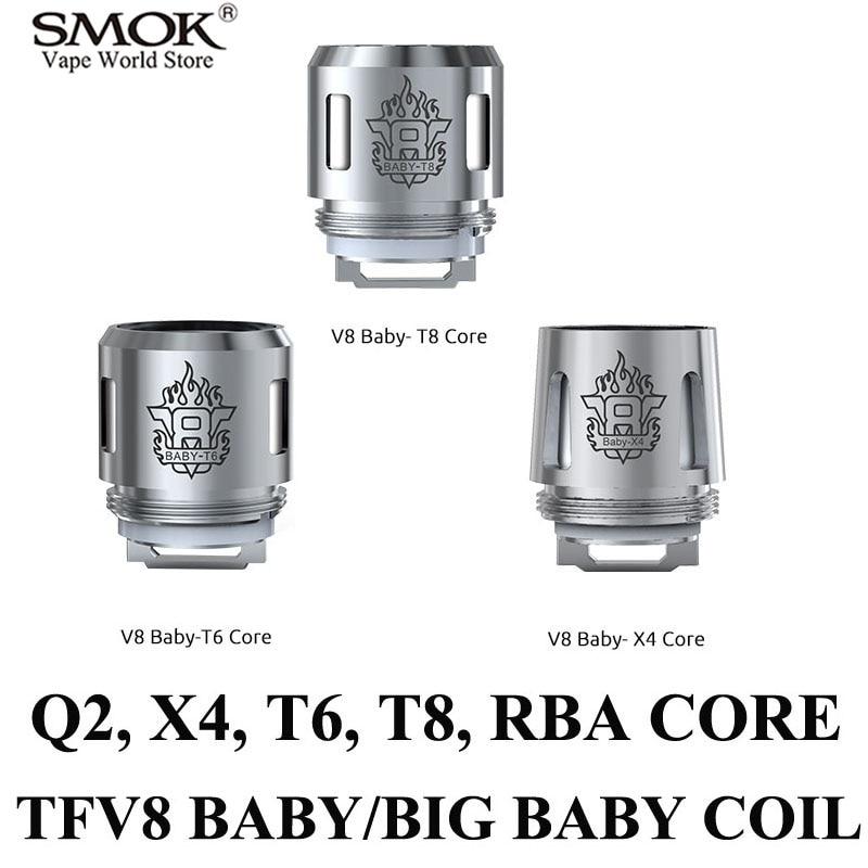 Elektroniska cigarettkärnor SMOK TFV8 BABY Coil Alien AL85 G150 Gx2 / 4 G320 Core G-priv T Privatt V8 TFV8 Big BABY Coil S002
