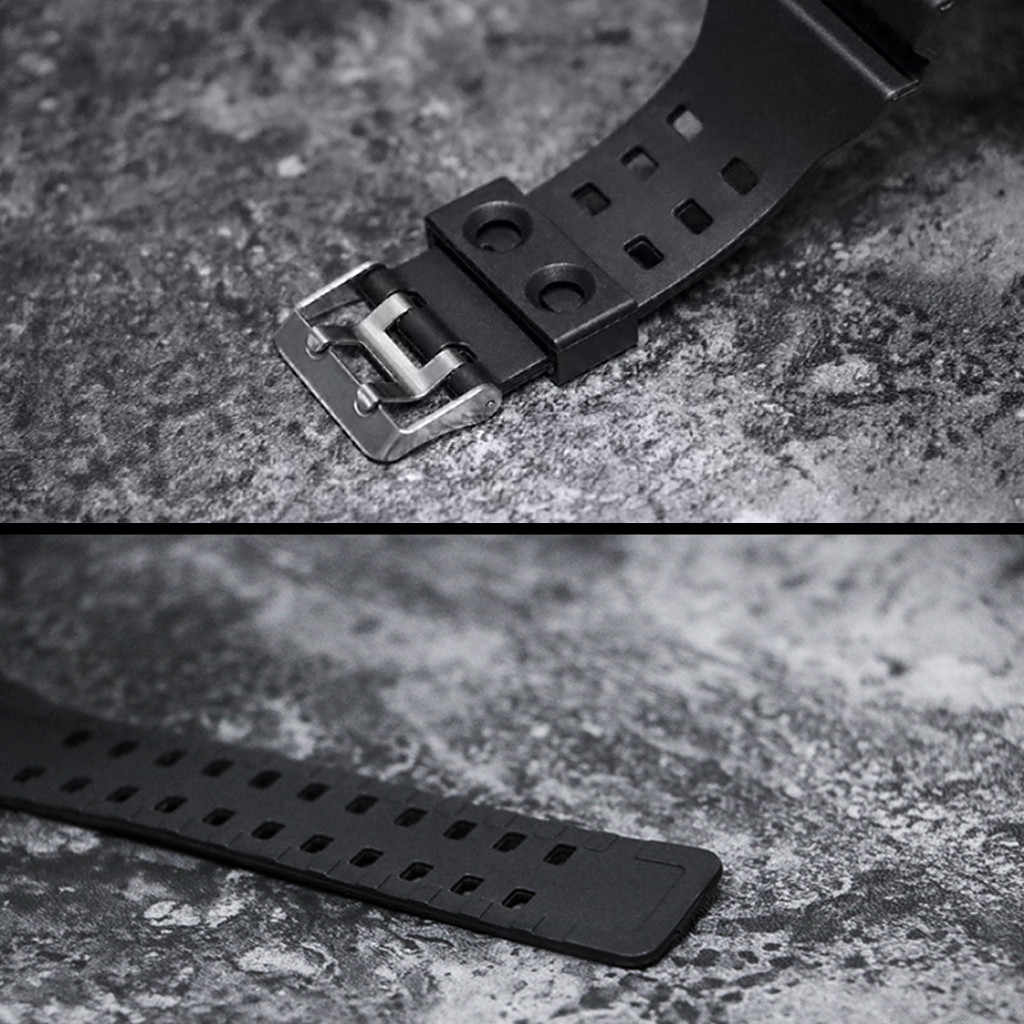 Luxury Mens ดิจิตอล LED นาฬิกาผู้ชายกีฬากลางแจ้งนาฬิกาอิเล็กทรอนิกส์กันน้ำสวิตช์ปลุกของขวัญเรซินที่มีคุณภาพสูง