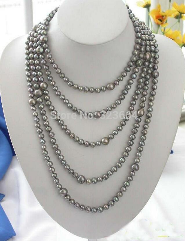 100 10MM gray round FRESHWATER CULTURED PEARL NECKLACE100 10MM gray round FRESHWATER CULTURED PEARL NECKLACE