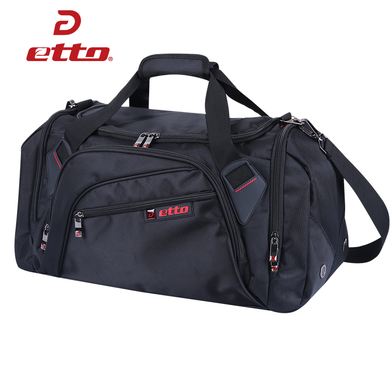Etto Large Basketball Football Volleyball Team Training Bag Women Men Separated Shoes Compartment Sports Bag Fitness Gym HAB202