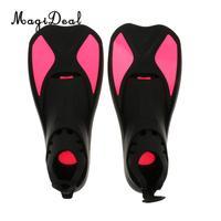 MagiDeal Universal Full Foot Short Fins Scuba Diving Swim Training Flippers Kid Adult Swimming Fins Snorkeling