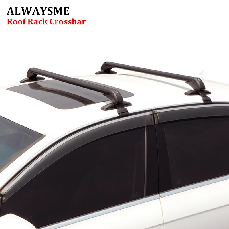 ALWAYSME 2PCS Universal Fits Car Without Original RoofRack Car SUV Aluminum Top Luggage Roof Rack Cross
