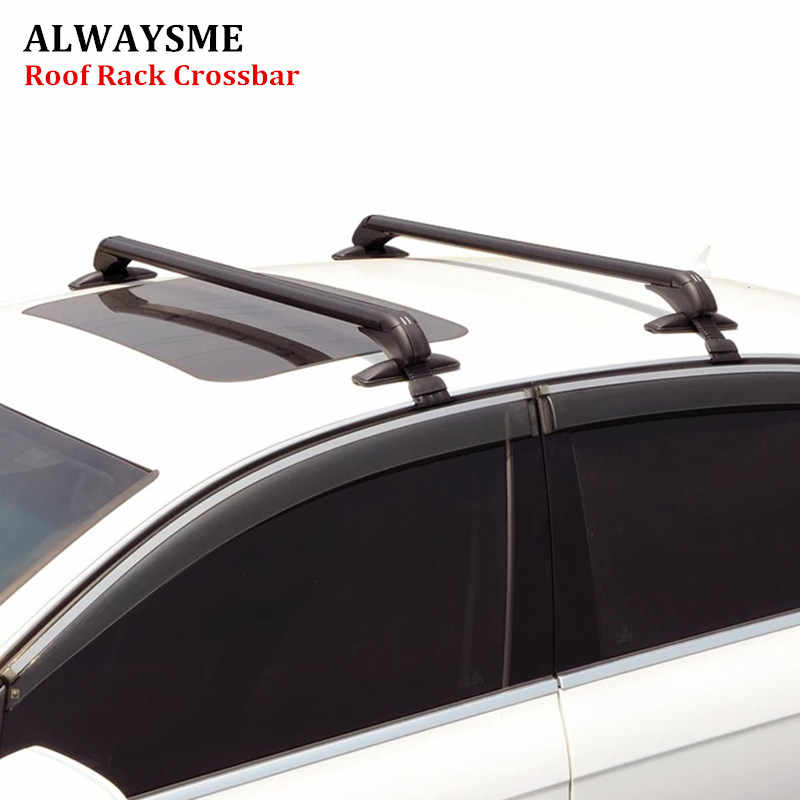 Alwaysme 2pcs Universal Fits Car Without Original Roofrack Car Suv Aluminum Top Luggage Roof Rack Cross Bar With Anti Theft Lock Aliexpress