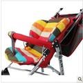Superior de la venta Del Color Del Arco Iris Suave de Espesor de alta calidad cochecito de bebé Cesta Paraguas Rayas Liner cojín del asiento accesorios carrinho