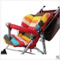 Top sale Rainbow Color Soft high quality Thick baby stroller seat cushion Umbrella Cart Striped Liner carrinho accessories