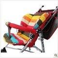 Top venda Rainbow Color almofada do assento Macio de alta qualidade Grosso do bebê carrinho de criança Carrinho de Guarda-chuva Listrado Forro carrinho acessórios