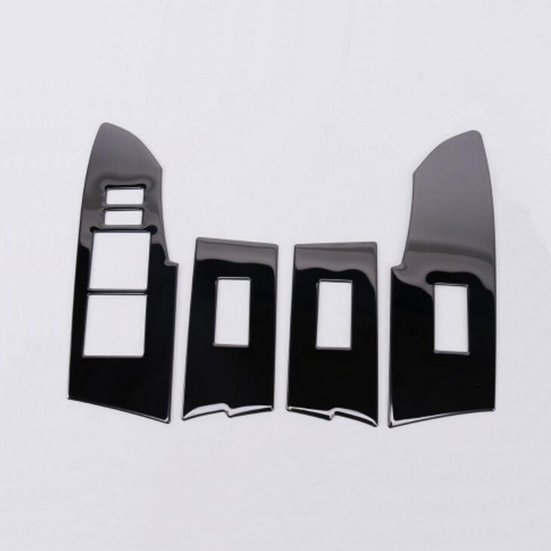 Tonlinker Cover Case Sticker for TOYOTA corolla 2014-17 Car Styling 4 PCS stainless steel door windows lift button cover sticker