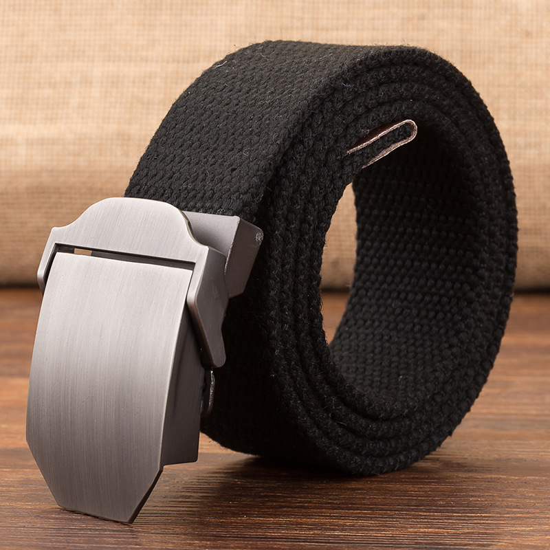 Wholesale  110cm  custom 160cm  blank plate buckle CANVAS  tape  no logo outdoor web canvas belt
