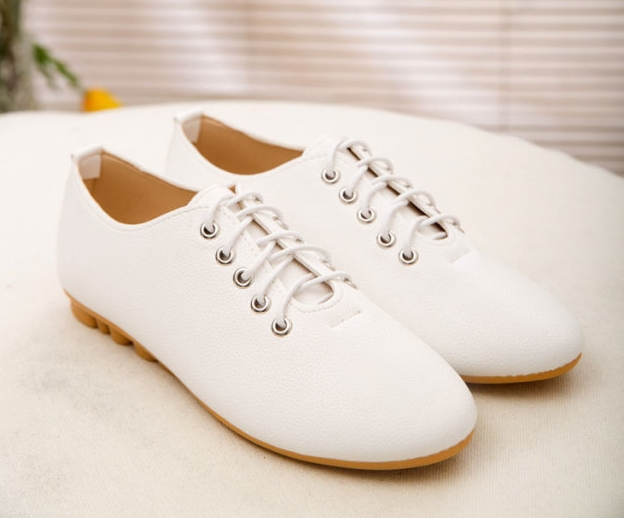 40b55ce475b8a US $12.58 |Women Leather Shoes woman Flats PU Black White yellow Flat shoes  Cheap Women Sport shoe Loafers Moccasins Casual sneakers -in Women's Flats  ...