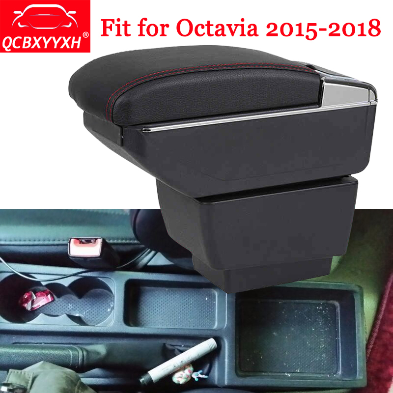 QCBXYYXH Car-Styling ABS Car Armrest Box Center Console Storage Box Holder Case Auto Accessories For Skoda Octavia 2015-2018 набор invisibobble styling box