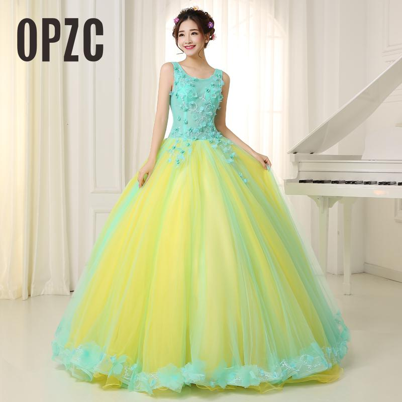 Organza Colored Wedding Dress 2017 New Korean Style Double