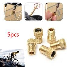 5 шт. переходный клапан для шин, адаптер Presta для Schrader Cinverter, дорожный велосипед, велосипедный велосипед, пробирка