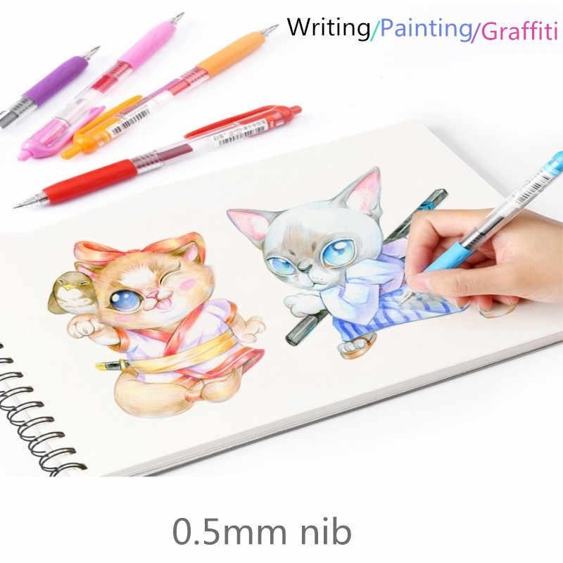 0,5mm Gel Stifte Für Schule Büro Liefert Kawaii Drücken Sie Typ Mehrfarbig kugelschreiber Nette schreibwaren Schreib Speicher