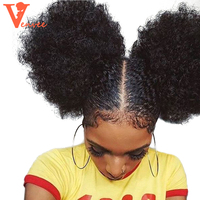 4B 4C Afro Kinky Culry Hair Ponytail Extensions Clip Ins 100% Human Hair Ponytail Mongolian Kinky Curly Virgin Hair