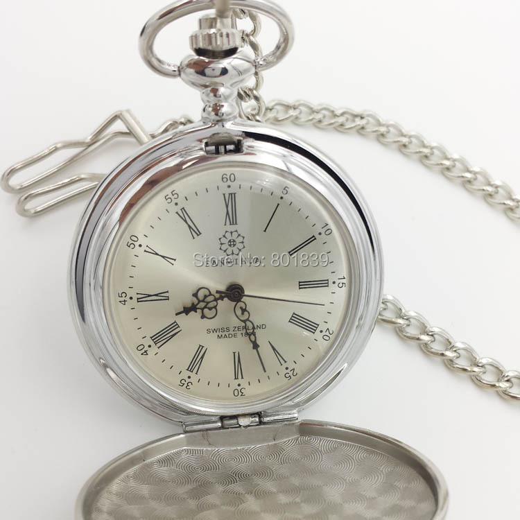 Antique Style See Though Back Case Roman Number Hand Wind Mechanical Mens Pocket Watch Nice Gift Wholesale Price H233