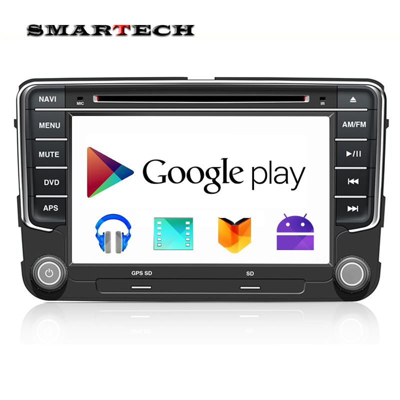 New VW Quad Core Android 4.4 Car Radio DVD GPS Wifi Navi VW GOLF6 POLO JETTA TOURAN EOS PASSAT CC TIGUAN SHARAN SCIROCCO Caddy