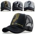 2015 nova malha Snapback chapéu do camionista boné de beisebol esportes ao ar livre verão cap homens net cap caminhão Sunbonnet hiphop chapéu para as mulheres unisex