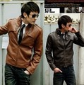 Leather imitation sheepskin men's leisure coat of cultivate one's morality men's PU leather jacket