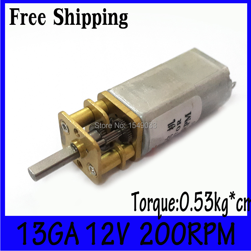 Gearmotor High Torque 12v 200rpm New 13mm12v Dc Motor Dc
