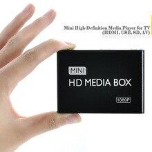 REDAMIGO Full HD 1080P медиаплеер центр Мультимедиа Видео плеер Медиа бокс с HDMI VGA AV USB SD/MMC mkv H.264 HDDK7