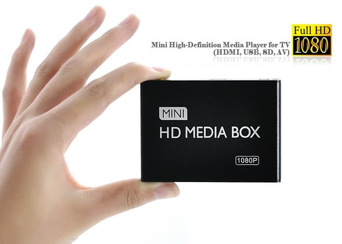 REDAMIGO Full HD 1080 p Media Player Center Multimédia Vidéo Lecteur Média box avec HDMI VGA AV USB SD/ MMC mkv H.264 HDDK7