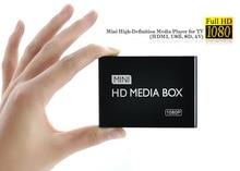 цена на REDAMIGO Full HD 1080P Media Player Center MultiMedia Video Player Media box with HDMI VGA AV USB SD/MMC mkv H.264 HDDK7
