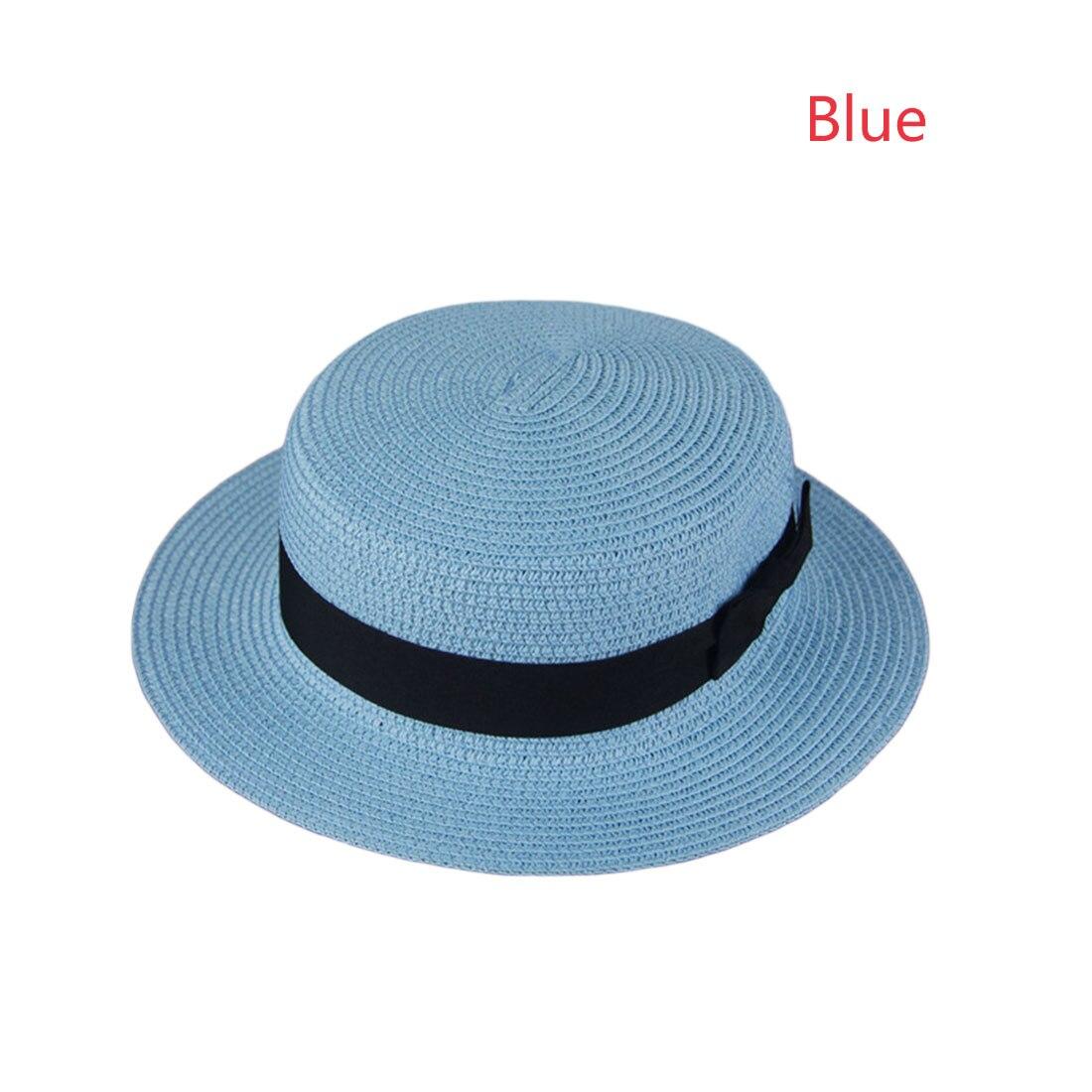 Kopfbedeckungen Für Damen Flache Top Stroh Strand Hut Panama Hut Sommer Hüte Für Frauen Stroh Hüte Snapback Gorras Spitze Dame Sonne Kappen Band Bogen Runde