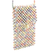 Caker Brand 2019 Women Colorful Acrylic Pearl Beaded Shoulder Bags