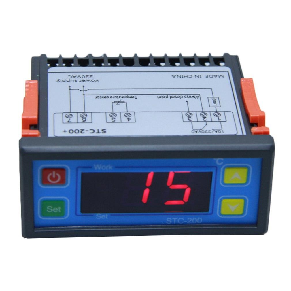 STC-200 цифровой контроль температуры микрокомпьютер термостат переключатель Регулятор термометр терморегулятор регулируемый