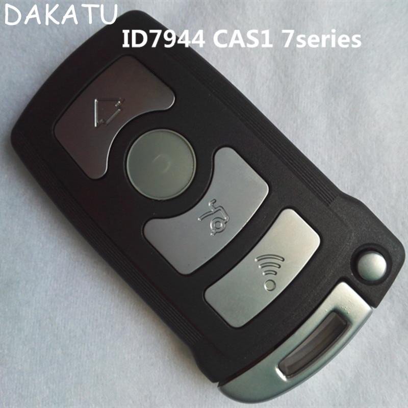 DAKATU 4 button smart remote key For BMW CAS1 7series ID7944 434MHZ/868 /315MHZ HU92(sutit for E65.66)