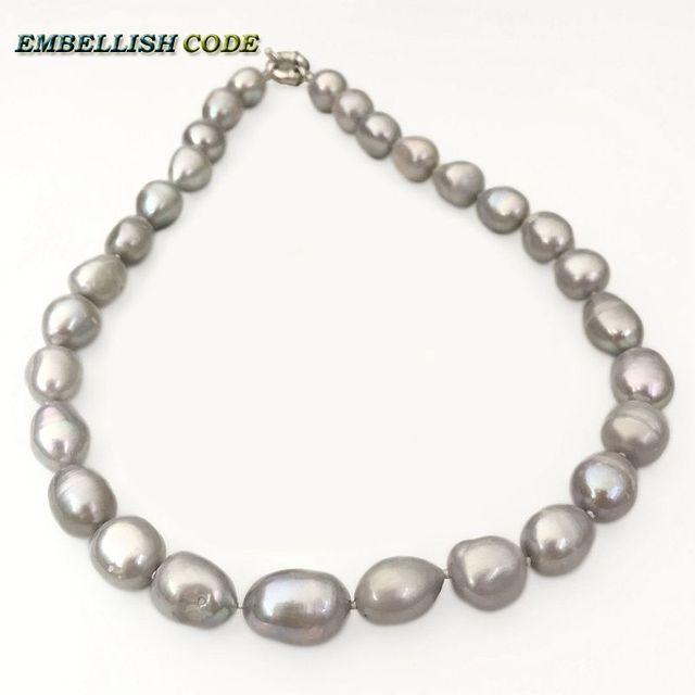 Visualizzza di più. Grigio (grigio) colore barocco tear drop forma  irregolare naturale Coltivate perle d acqua 5fd2baf358b4