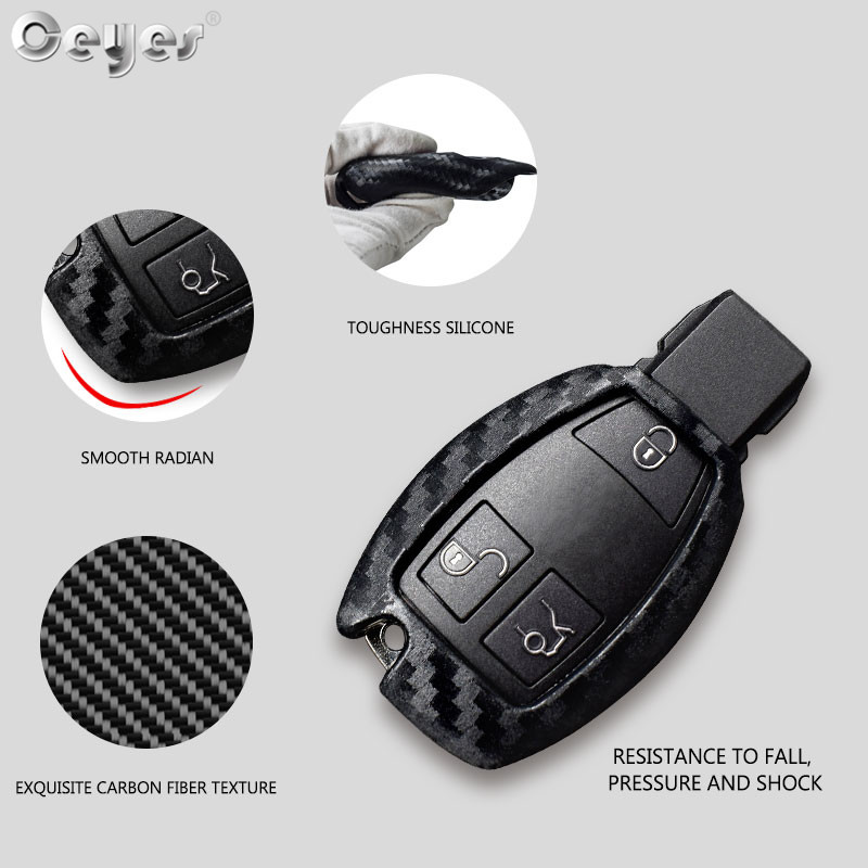 Image 3 - Ceyes Car Styling Auto Carbon Fiber Shell Covers Case For Mercedes Benz Cla CLS R350 C200 C180 E260L S320 GLK300 C S Accessories-in Car Stickers from Automobiles & Motorcycles
