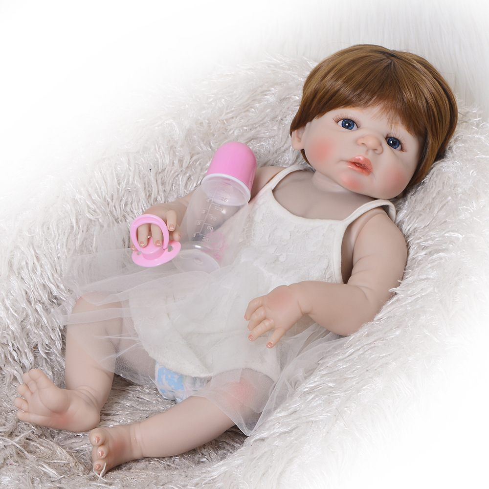 bebes reborn doll Baby girl Doll 55cm Full Silicone Boneca Reborn Brinquedos Bonecas childrens day gifts toys bed time plamatesbebes reborn doll Baby girl Doll 55cm Full Silicone Boneca Reborn Brinquedos Bonecas childrens day gifts toys bed time plamates