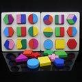 Бесплатная доставка по Вопросам Образования монтессори учебных ПОСОБИЙ геометрические головоломки игрушки, оценка пластины, в общей сложности трех видов стиля