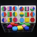 Free shipping Educational montessori teaching AIDS geometric puzzles toy, score plate, a total of three kinds of style