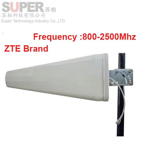 Para A Rússia marca ZTE ZTE antena 11dbi painel LDP antena de ganho 806-2500 Mhz, 3g reforço Logaritmo antena direcional antena wi-fi