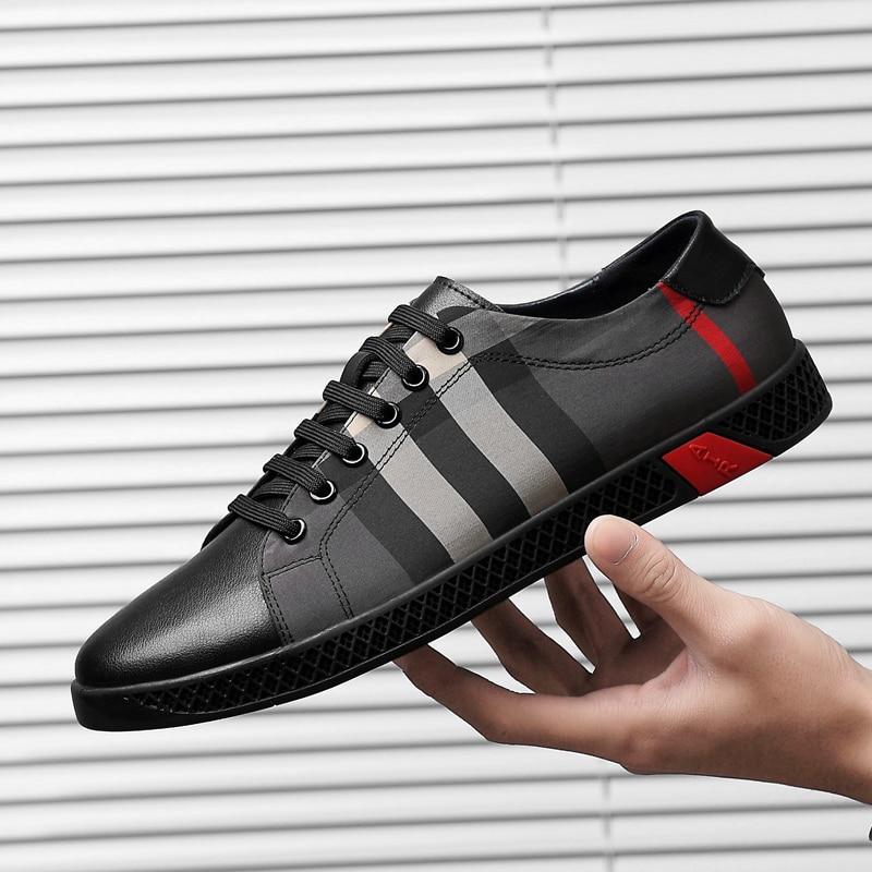 Begeistert Männer Schuhe Casual Einfache Gemeinsame Projekte Hohe Qualität Lace Up Echtes Leder Schuhe Klassische Old Skool Schuhe Zapatos De Hombre K3 Einfach Zu Verwenden Herrenschuhe