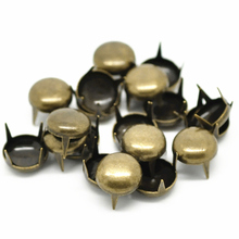 100Pcs Studs Spots Rivets Spike Round Dome Bronze Tone Bag Shoes Clothes Crafts Findings 8.5mm 3/8