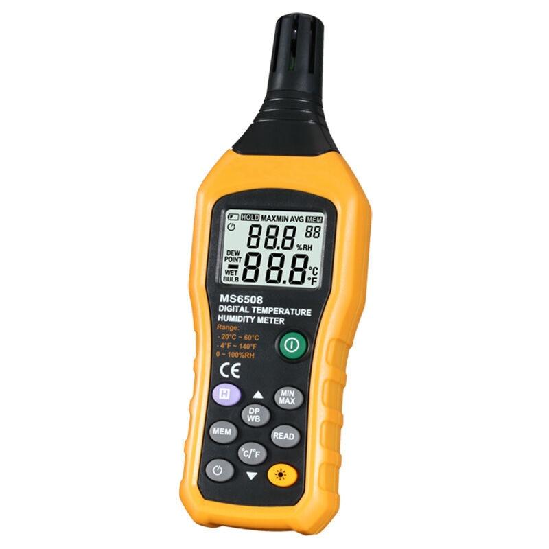 digital temperature humidity meter undervoltage instruction backlight data keep temperature gauge humidity instrument hygrometer tecman tm827 temperature and humidity meter tester measuring instrument