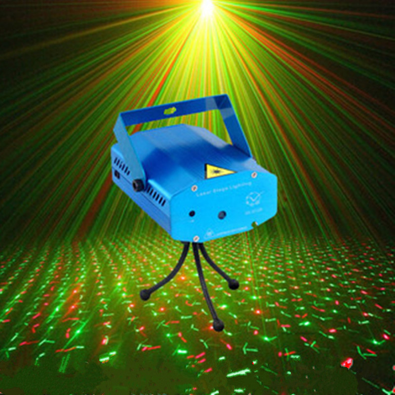 Cheap Tripods 150MW Mini red and green laser stage lights moving party DJ stage lighting  Auto strobe for luces disco rg mini 3 lens 24 patterns led laser projector stage lighting effect 3w blue for dj disco party club laser