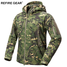 ReFire Gear Outdoor Soft Shell Jacket Men Waterproof Fleece Hunting font b Hiking b font Windbreaker