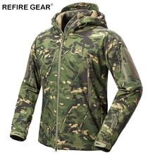 ReFire gear уличная мягкая оболочка куртка мужская водостойкая флисовая охотничья походная ветровка куртка Camp камуфляж тактические куртки