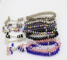 ФОТО free shipping 5pcs/lot 10 mm crystal material all colors for you choose crystal islamic muslim prayer bead for hot selling