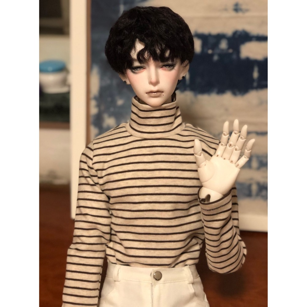 BJD DOLL Strips Sweater Outfits Clothing Top For 1/4 17