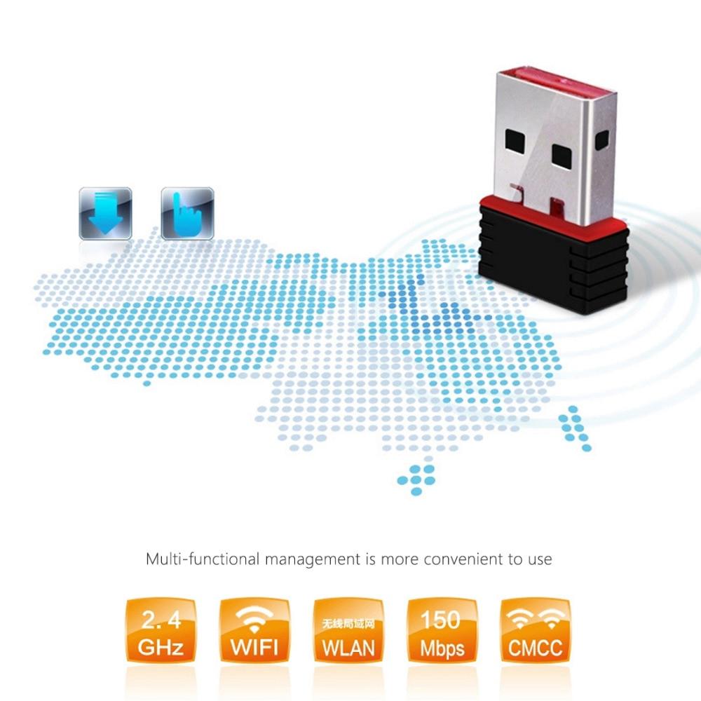 Mini PC Adaptador WiFi 150M USB WiFi antena Computadora inalámbrica - Equipo de red - foto 2